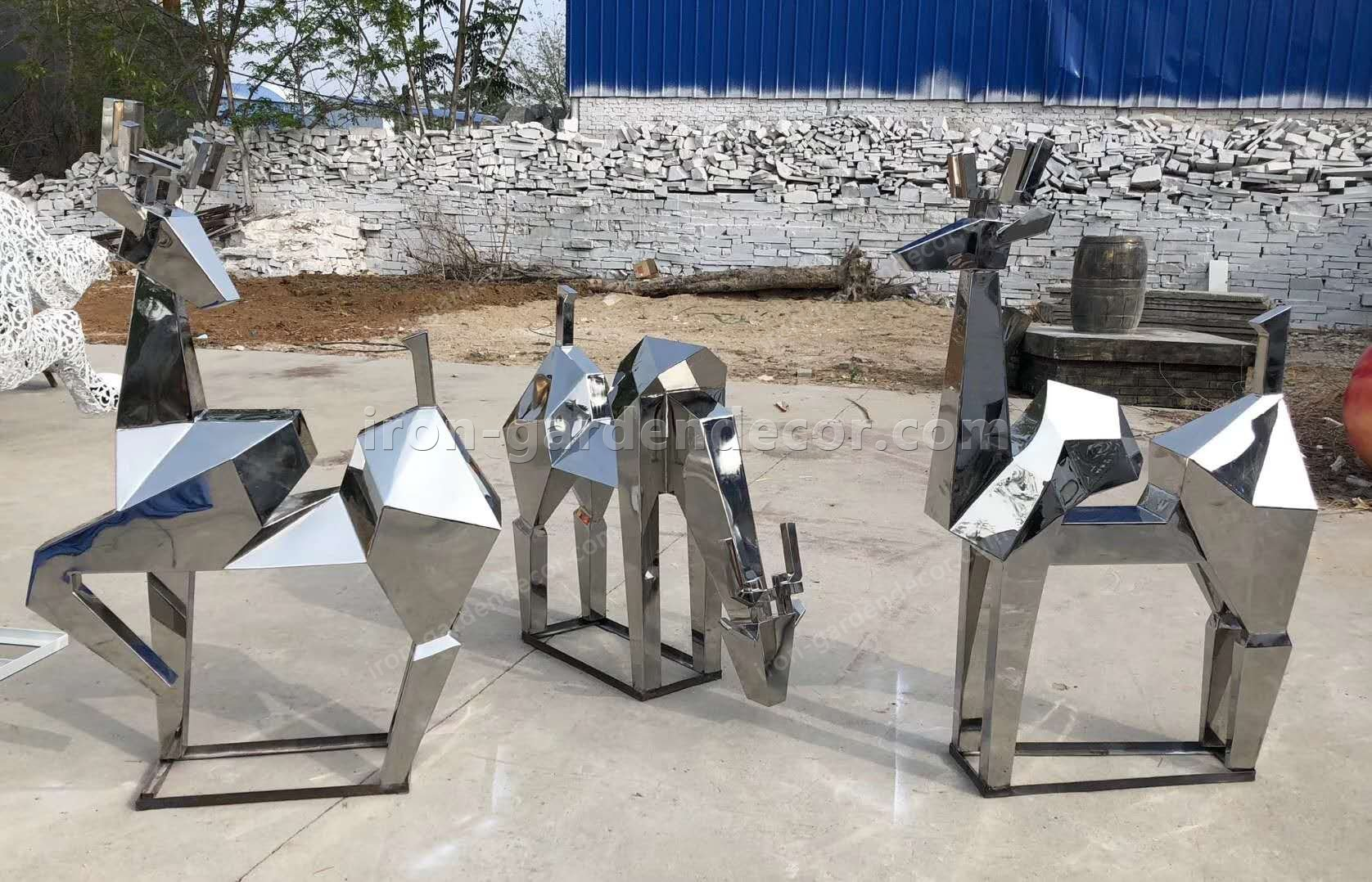 Garden Sculpture Modern Art Sculpture stainless steel abstract-7
