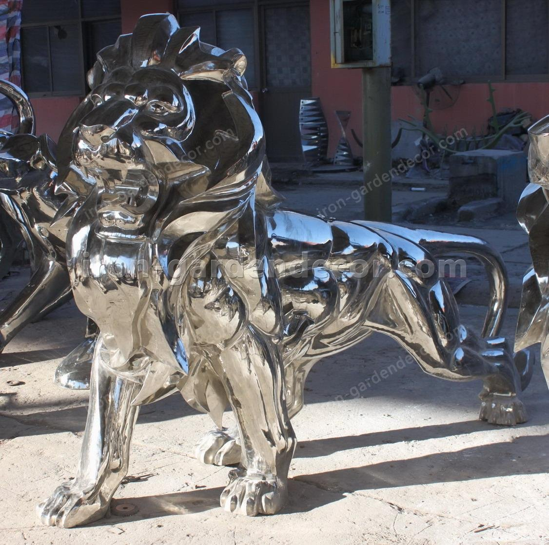 outdoor Art Garden Sculpture stainless steel dolphins-IMG_2283