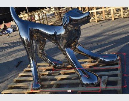 Stainless Steel Sculpture steel cute dog animal steel art
