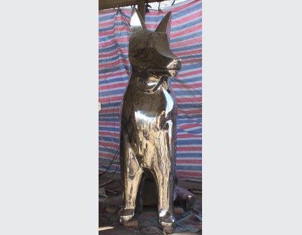 Garden Sculpture Art,Stainless Steel Sculpture steel abstract dog