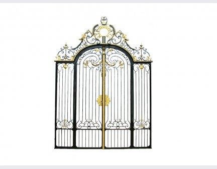modern iron gate iron sculpture