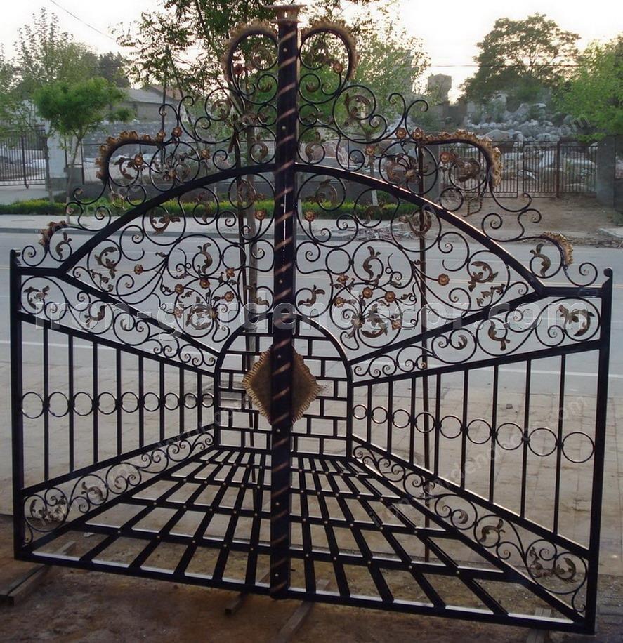 cast iron,iron casting iron door ,iron fence gate-T-5641