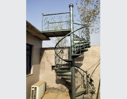 Residential Steel Stairs for outdoor /indoor decoration